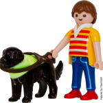 Playmobil man with guide dog