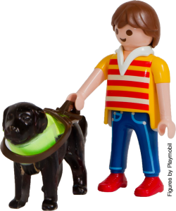 Playmobil figures - man with guide dog